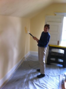 Volunteers speed up painting